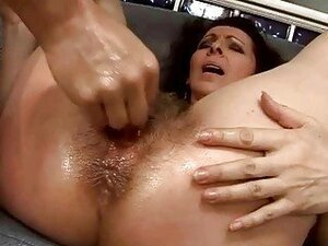 Hairy granny getting her pussy fucked hard