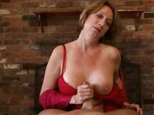 Big tit milf stroking dick for you