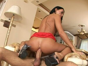 Slutty and too tanned Christina Bella enjoys a tough anal fuck