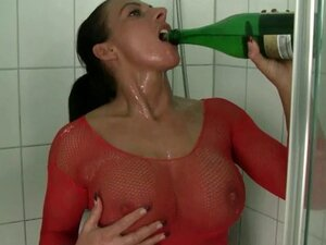 champagne bottle masturbating