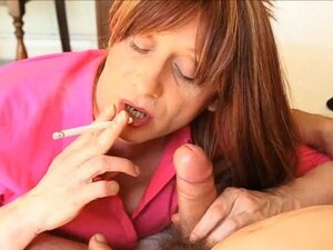 Tranny Lucimay Smoking And Sucking Hard Cock