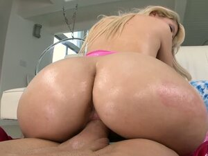 Loren Nicole the hot blonde with oiled up ass gets fucked