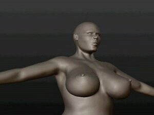 big ass and tits in 3D