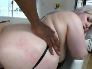 Fat girl goes anal with her black lover