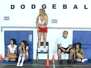 Dodge Ball Game Turns Into A Swallow Ball Game For The Blonde Milf Julia Ann