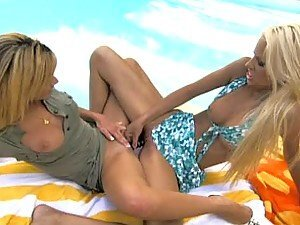 Unbelievably Hot Blonde Lesbians Masturbate And Scissor One Another