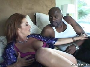Handcuffed busty XXX mom rides a big dick