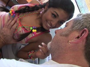 Pigtailed beauty Ruby Reyes and old fart
