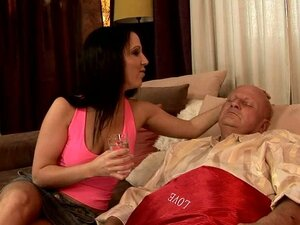 Old Dude Fucks A Hot Brunette Broad