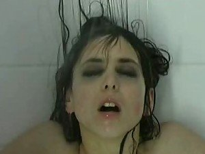 Bizarre Shower Scene Featuring Busty Brunette Emo Babe Emily Booth