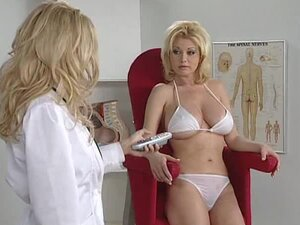 Hot doctor and her patient have big tits and look hot