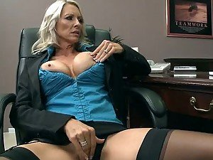 CFNM Sex In The Office with Busty MILF Boss Emma Starr