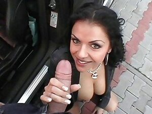 Delightful public blowjob