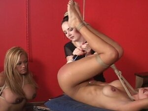 Horny lesbians punishe and fuck sexual slave
