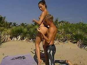 Hardcore Outdoors sex At the Beach with Brunette Alexa May
