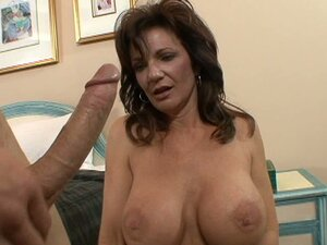 Black haired not pretty milf gets ready for strong fuck