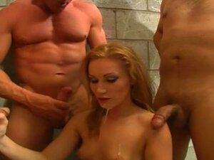 Blonde cum junky in nasty blow banging session