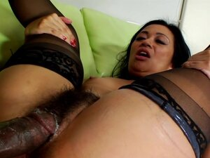 Hairy brunette in dirty anal