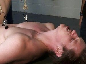 Young pale gay guy gets bound and humiliated