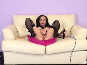 Cytherea gets the job done and with fine fashion as she wears her sexy stockings