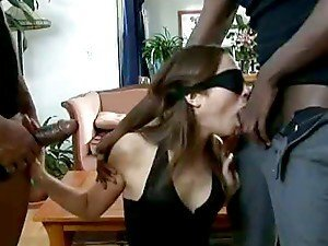 Big Black Cock Surprise For Slutty Brunette Amber Rayne