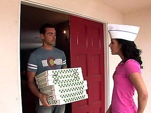 Eve Evans Takes Advantage of a Special Delivery