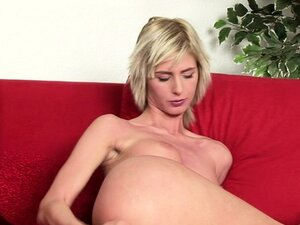 Slutty blonde in hot solo fisting show enters from the front and the rear