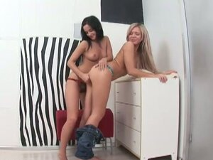 Two naughty chicks Cristal May and Varvara in sweet lesbian love