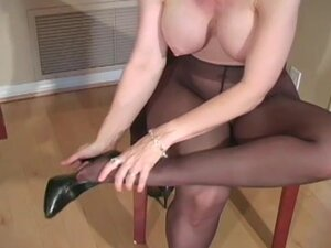 Blonde milf amazes with her show
