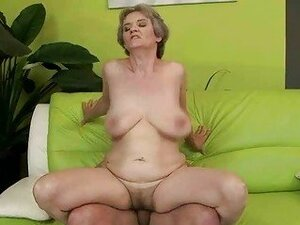 Hot busty granny sucking and fucking huge cock