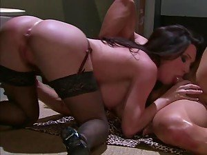Horny and Dirty MILF Rayveness Sucking and Fucking In Restroom