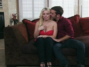 Lonley blonde wife Britney Amber fucks her husband's friend