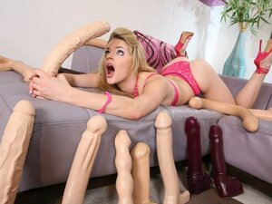 Ally Ann likes a good solo session as she has plenty of toys to keep her company