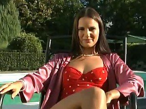 Horny brunette Claudia Rossi gets fucked on the golf field