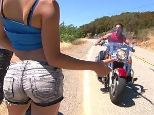 Slutty Gigi Rivera Fucked by a Motorcycling Stud