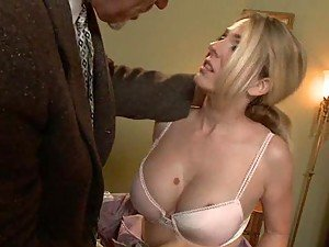 Masturbating Blonde Caught and Banged Hard in BDSM Clip