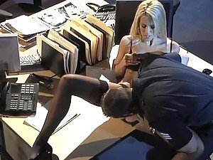 Hot Sex In The Office With Blonde Jessica Drake In Lingerie