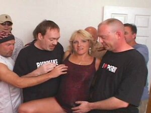Hot Milf groped then fucked hard by group of horny guys