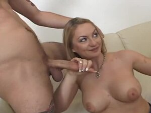 Bouncy blond neighbors wife gets double penetrated