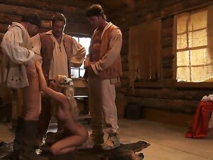 You gotta love a gangbang period piece, especially with ruffled shirts flying around while some busty blonde, on her knees, jerks and sucks 3 cats simultaneously. So hot.