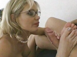 Busty milf in glasses gets poked hard