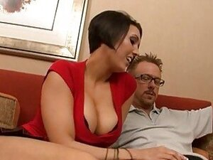 Divine Dylan Ryder rodeos her moist bald muff on a solid cock rod