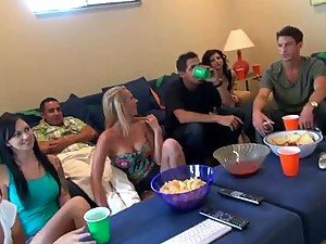 First Game College Party Ends With Cum On The Teens Tits