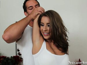 Presley Hart is exercising and gives him her hot ass to lick and finger
