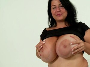 Busty mature is horny and wild