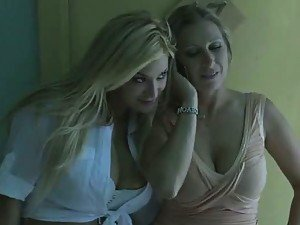 Horny and Busty Blonde MILFs Getting Fucked In FFM Threesome