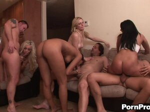 Slutty MILFs Get Multple Cumshots in Crazy Group Sex