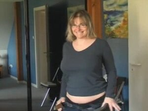 chubby mature strips and masturbates in room