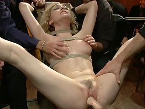 Sexy Blondie Is Insatiable When It Comes To BDSM Action And Masturbation