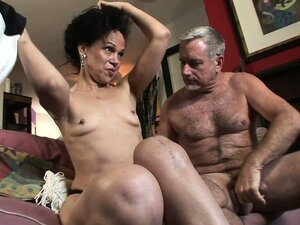 She wraps her lips around that cock before it drills her hairy pussy